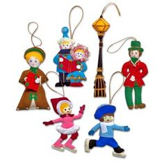 @WorldCrafts {Christmas on Ice Ornament Set ~ Thai Country Trim ~ Thailand} This set includes seven pieces, hand sewn with sparkling accents. Hand made by  battered women who are receiving emotional and financial support. #fairtrade #supportfreedom