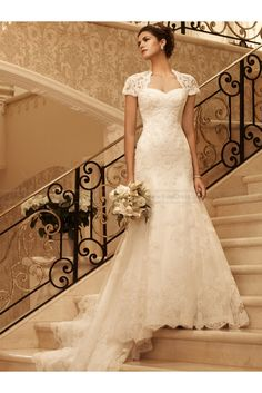 Exquisite Fit And Flare Bridal Dress By Casablanca 2102
