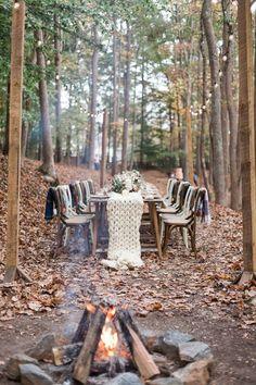 Wedding Ideas | winter forest weddings