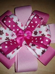 valentines hair bow. $7.00, via Etsy.