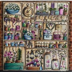 Johanna Basford/world of Flowers/ colouring book/ Ness Butler / forestlovecolouring/ prisma pencils/ polychromos pencils/ colouring for adults/ world of flowers colouring book/ Realistic Flower Drawing, Simple Flower Drawing, Easy Flower Drawings, Beautiful Flower Drawings, Coloring Book Art, Doodle Coloring, Adult Coloring, Joanna Basford, Johanna Basford Coloring Book