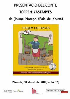 Biblioteca Fages de Climent - Figueres. 18 d'abril de 2015 a les 12h. Presentació del conte Torrem castanyes, de Jaume Moreno (País de Xauxa).