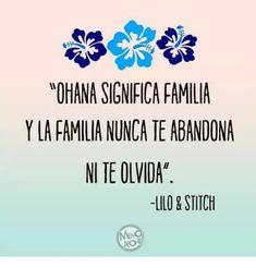 Resultado de imagen para lilo y stitch ohana significa familia español