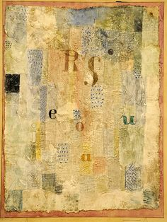 Paul Klee. Vocal Fabric of the Singer Rosa Silber. 1922. MoMA, NYC   Flickr - Photo Sharing!