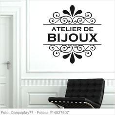 Möbeltattoo Atelier de Bijoux mit Ornament Shabby 02
