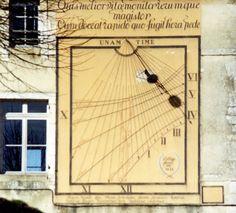 Samuel Chagalov, Cadran solaire de Noyers-sur-Serein (Yonne), 2005