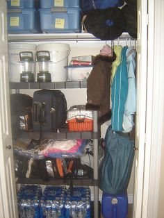So now you have an emergency 72-hour kit prepared, but how do you store it and how to you evacuate? Here is a great blogpost detailing just that.