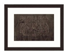 A Grain of Wheat - Bible Verse Art - John 12 by RandomOasis