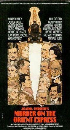 "MURDER ON THE ORIENT EXPRESS "" (1974) ALBERT FINNEY, INGRID BERGMAN, LAUREN BACALL, Sean Connery, Jacqueline Bissette, Michael York, Wendy Hiller, John Gielgud, Martin Balsam"