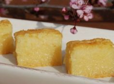 BUTTER MOCHI - Japanese Sweet Chewy Dessert Recipe | Just A Pinch Recipes