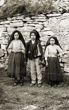 The three children of Fatima, Lucia, Francisco and Jacinta, who claimed the Virgin Mary came to them 6 times during 1917 to reveal 3 secrets...