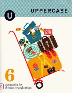 Cover illustration and inside spread for issue 6 of Uppercase magazine 2010 Debbie Powell