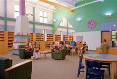 East Fairhaven Elementary School Library, Designed by HMFH Architects, Inc.
