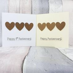 8th anniversary card Bronze wedding anniversary card | Etsy 8th Wedding Anniversary Gift, Happy Anniversary, Bronze Gifts, Bronze Wedding, Romantic Cards, Thanks Card, Plan My Wedding, Congratulations Card, Heart Cards