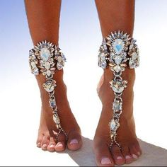 83677e256e Aria Crystal Hand Ankle Chain - The Songbird Collection Leg Chain