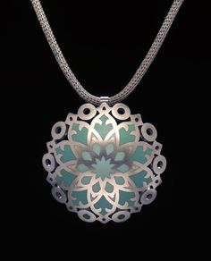 Janet Huddie - champleve pendant - Chapter House Pendant 2013