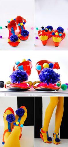 DIY Pom-Pom Sandals | Handmade Charlotte via @Juanita Martin Charlotte