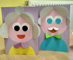 Crafts and games for children - Cute Kids Crafts, Paper Crafts For Kids, Projects For Kids, Diy For Kids, Diy And Crafts, Children Crafts, Grandparents Day Crafts, Mothers Day Crafts, Circle Crafts