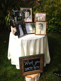 What a sweet way to include all your loved ones at your wedding, whether they are still with you or not. I love these wedding memory table ideas.