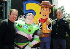 Tim Allen, Buzz, Woody & Tom Hanks arrive at the premiere of Toy Story 3 in LA 2011
