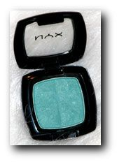 MAC Aquadisiac dupe: NYX Jade. This is by far my favorite NYX shadow as it is unique and so beautiful! I love putting this all over the lid with some Charcoal or black in the outer V. Or for a daytime look, pairing up with light browns for a soft, yet unique look. The only comparison that is close is MAC's Aquadisiac, but this NYX shadow (in my opinion) has better color payoff.