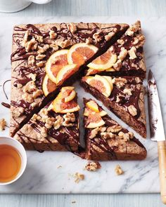 Passover Chocolate-Walnut Cake with Orange