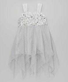 Popatu by Posh Silver Sparkle Bow Dress - Infant & Toddler by Popatu by Posh #zulily #zulilyfinds