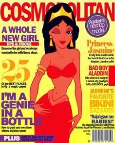 Disney Princesses as Magazine Cover Models