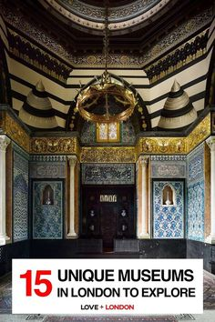 The coolest and most interesting museums to visit in London. Great for London tourists who want to go off the beaten path! Pictured: Leighton House Travel Around The World, Around The Worlds, British Garden, Free Museums, London Museums, British Museum, Barcelona Cathedral, House, Explore