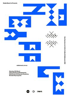 typography poster //  Source: volume2a //  Pineapple Number3