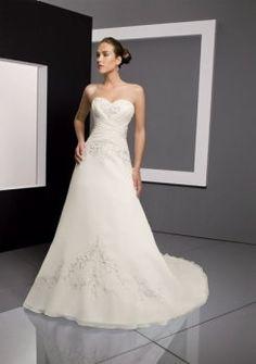 occasionnels vives A-ligne de robes de mariée bustier