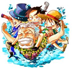 Garb, Monkey D. Luffy , Portgas D. Ace and Sabo #one piece