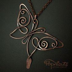 Pendant | Popnicute Designs.  Copper
