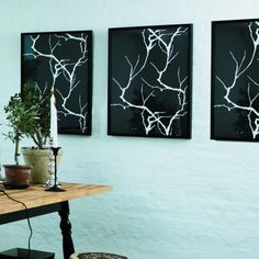 Du kan selv lave et par flotte, grafiske kunstværker til væggen. Se hvordan du gør