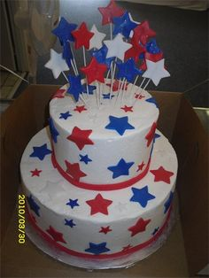 awesome 4th of July cake