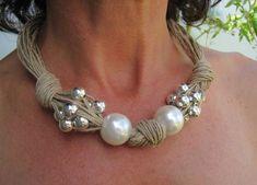 this article is not available - DIY Schmuck Textile Jewelry, Macrame Jewelry, Fabric Jewelry, Pearl Jewelry, Wire Jewelry, Jewelry Crafts, Jewelry Art, Jewellery, Diy Schmuck