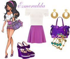 """Disney High-Esmeralda"" by summerspirit18 ❤ liked on Polyvore"