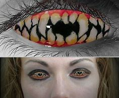 Halloween Contact Lenses This would be perfect for the Corinthian from The Sandman Series. Too bad I can't wear that kind of contact. Halloween Items, Halloween Make Up, Scary Halloween, Halloween Costumes, Halloween Face Makeup, Cool Contacts, Colored Contacts, Eye Contacts, Makeup Diy Projects