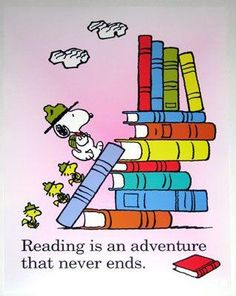 Reading is an adventure.