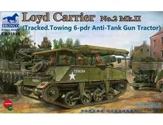 The Bronco Loyd Carrier No.2 Mk.II (Tracked) in 1/35 scale from the plastic military model kits range accurately recreates the real life British transport from World War II. 16Pdr Gun illustrated is NOT included.