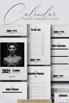 44-page Planner /Calendar Canva Template will help you to design an elegant calendar or planner for your audience. It can be also used to develop lead magnets / opt-in freebies for your online business. #papergoods #calendar #newyears #canvatemplate #canvaplanner #calendartemplate #2021planner #2021calendar #dailyplanner