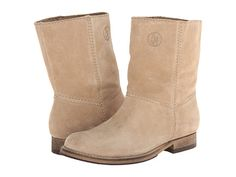 Armani Jeans Suede Short Boot Beige Suede - Zappos Couture