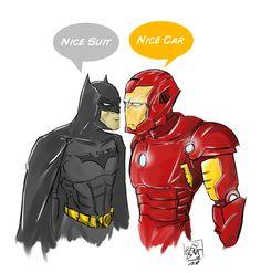 Batman meeting Stark