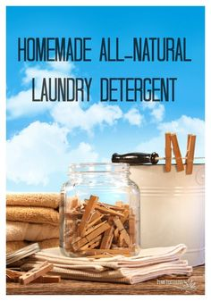 Homemade All Natural Laundry Detergent - Pink Fortitude, LLC - Trend Natural Cleaning Recipes 2019 Natural Cleaning Recipes, Homemade Cleaning Products, Natural Cleaning Products, Natural Products, Beauty Products, Natural Laundry Detergent, Homemade Laundry Detergent, Be Natural, Natural Living