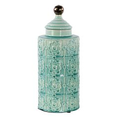 Urban Trends Cylindrical Ceramic Canister - 3252