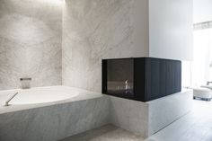 Byron & Jones Interiors - Bathroom - Marble - Fireplace