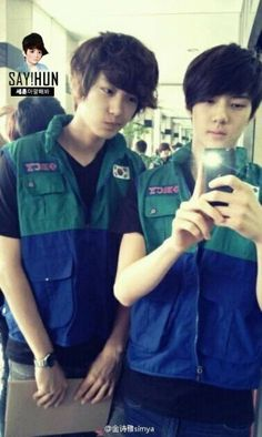 Chanyeol ♡ Sehun pre-debut  Omg they're so young and cute!!!