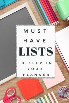 Must Have Lists to Keep in Your Planner. Get your life organized and keep track of all the things when you know these helpful lists and trackers to keep in your daily planner. Whether you use a regular planner or a bullet journal, you will love these ideas.