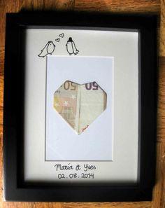 ¡Regala dinero a los novio de forma original! #boda #regalo #origami