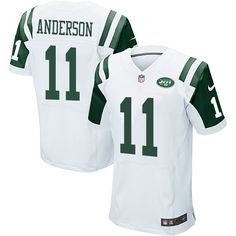 Men's Nike New York Jets #11 Robby Anderson Elite White NFL Jersey